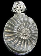 Buy Pyrite Ammonite Fossil Pendant - Sterling Silver - #37966