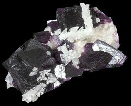 "3"" Dark Purple Cubic Fluorite on Quartz - China For Sale, #39002"