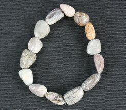 Colorado Agatized Dinosaur Bone Bracelet For Sale, #40859