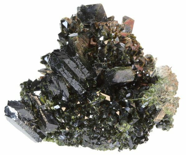 "Lustrous 2.3"" Epidote Crystal Cluster - Pakistan"