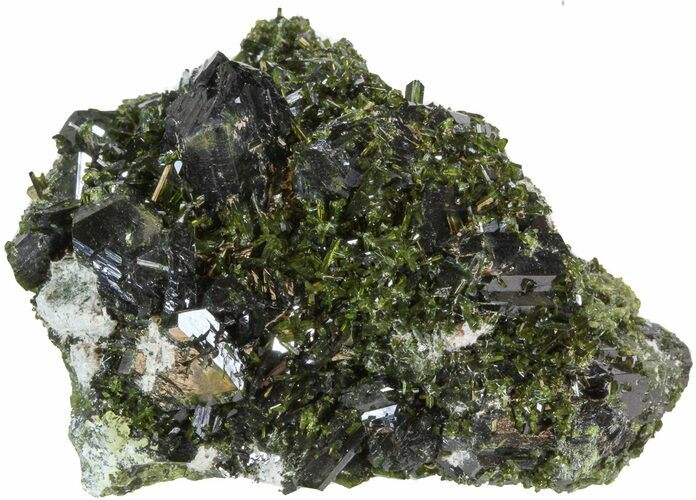"Lustrous 2.5"" Epidote Crystal Cluster - Pakistan"