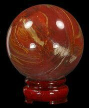 "Buy 2.7"" Colorful Petrified Wood Sphere - #41944"