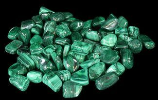 Buy Bulk Polished Malachite - 10 Pack - #42337