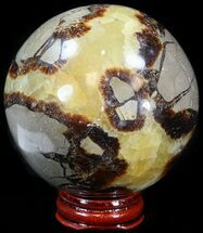 "Buy 3"" Polished Septarian Sphere - With Stand - #43846"