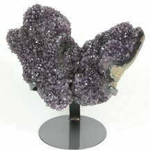 "Buy 11.9"" Unique Amethyst Formation On Metal Stand - Artigas, Uruguay - #46162"