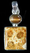 Buy 20 Million Year Old Fossil Coral Pendant - Sterling Silver - #48490