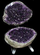 Amazing Amethyst Geode Display On Stand - Spectacular For Sale, #50981
