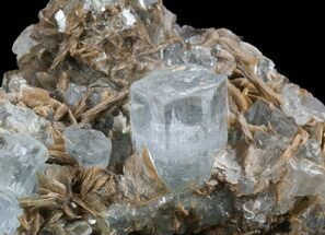 Aquamarine With Muscovite - Fossils For Sale - #34302