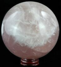 "Buy 4.2"" Polished Rose Quartz Sphere - Madagascar - #52399"