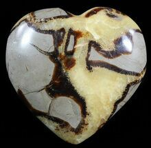 "3.5"" Polished Septarian ""Heart""  For Sale, #54698"