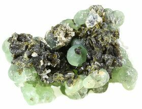 "Buy 3.1"" Prehnite Spheres with Epidote and Stilbite - Mali - #56095"
