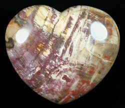 "3.8"" Colorful, Polished Petrified Wood ""Heart"" - Triassic For Sale, #58538"