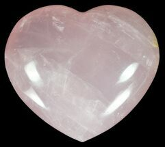 "2.7"" Polished Rose Quartz Heart - Madagascar For Sale, #59090"