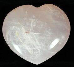 "Buy 3.8"" Polished Rose Quartz Heart - Madagascar - #59113"