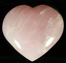 "3.8"" Polished Rose Quartz Heart - Madagascar For Sale, #59114"