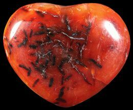 "2.2"" Colorful Carnelian Agate Heart For Sale, #59579"