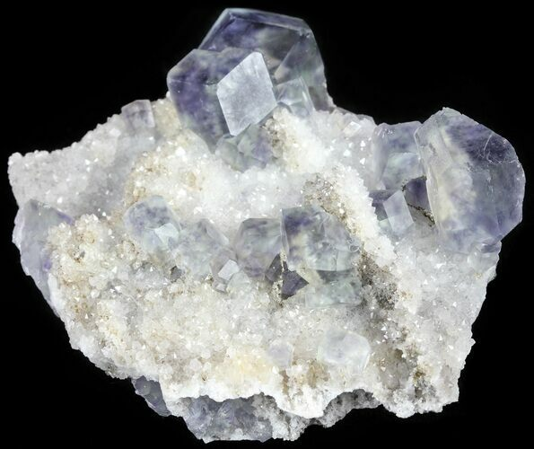 "2.8"" Fluorite and Quartz, Fujian Province, China"