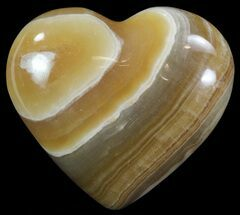 "Buy 3.2"" Polished, Brown Calcite Heart - Madagascar - #62545"