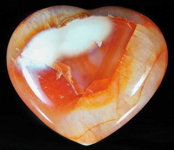 "3.2"" Colorful Carnelian Agate Heart"