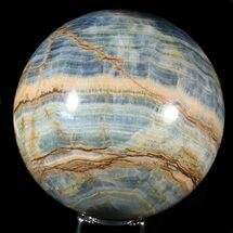 "5.9"" Polished Blue Onyx Sphere - Argentina For Sale, #63164"