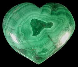 "Buy 1.1"" Polished Malachite Heart - Congo - #63208"