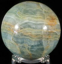 "Buy 3"" Polished Blue Onyx Sphere - Argentina - #63262"