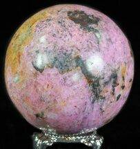 "Buy 2.1"" Polished Cobaltoan Calcite Sphere - Congo - #63898"
