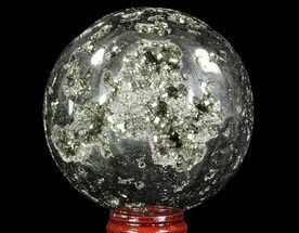 "Buy 3"" Polished Pyrite Sphere - Peru - #65863"