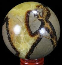 "Buy 2.65"" Polished Septarian Sphere - Madagascar - #67858"