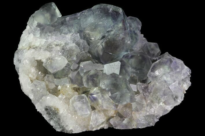 "2.7"" Fluorite and Quartz, Fujian Province, China"