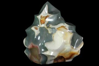 "10.1"" Polychrome Jasper ""Flame"" Sculpture - Madagascar For Sale, #71372"