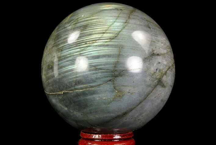 "2.7"" Flashy Labradorite Sphere - Great Color Play"