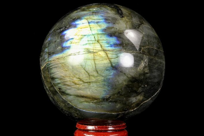 "2.65"" Flashy Labradorite Sphere - Great Color Play"