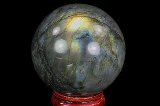 "1.9"" Flashy Labradorite Sphere - Great Color Play For Sale, #74615"