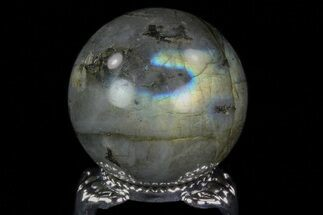 "Buy 1.3"" Flashy Labradorite Sphere - Great Color Play - #74629"