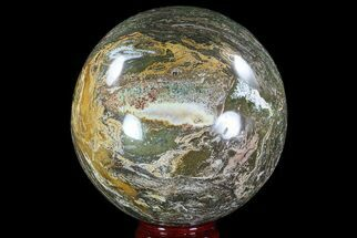 "Buy Large, 7.4"" Ocean Jasper Sphere - 21.9 lbs - #74734"