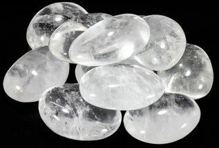 "Buy Bulk: Polished Clear Quartz ""Pebbles"" - Single Stone - #75610"