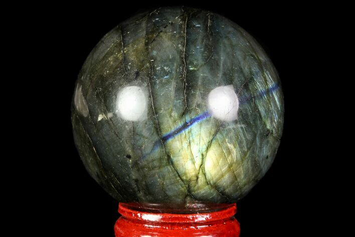 "1.9"" Flashy Labradorite Sphere - Great Color Play"