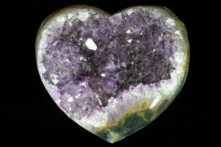"4"" Purple Amethyst Crystal Heart - Uruguay For Sale, #76778"