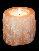 Buy Wholesale Box: Orange Selenite Tea Candle Holder - 39 Pieces - #77287