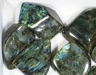 Wholesale Lot: 20 Lbs Free-Standing Polished Labradorite - 12 Pieces - #77652-1