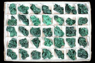 Buy Wholesale Lot: Gorgeous Fibrous Malachite From Congo - 35 Pieces - #77806