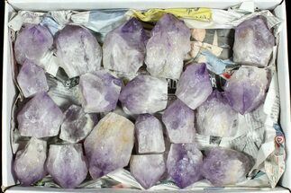 "Wholesale Box: 26 Lbs Amethyst Crystals (2-4"") - Brazil For Sale, #77846"