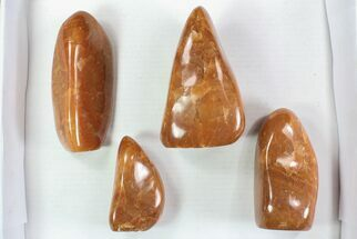 Wholesale Lot: 10 Lbs Free-Standing Polished Orange Calcite - 4 Pieces For Sale, #78122