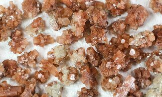 Wholesale Lot: Small Twinned Aragonite Crystals - 135 Pieces For Sale, #78104