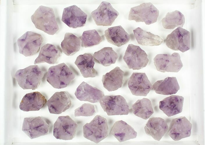 "Wholesale Lot: 1 1/2 to 3"" Cut Base Amethyst Crystals - 34 Pieces"