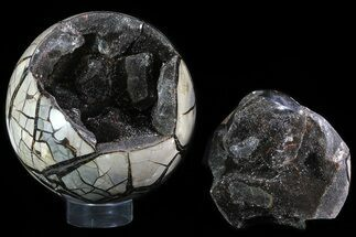 "Buy 8.2"" Round Septarian ""Dragon Egg"" Geode - Removable Section - #78811"