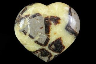"3.3"" Polished Septarian Heart For Sale, #82031"