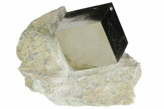 "Buy 1.1"" Natural Pyrite Cube In Rock From Spain - #82105"