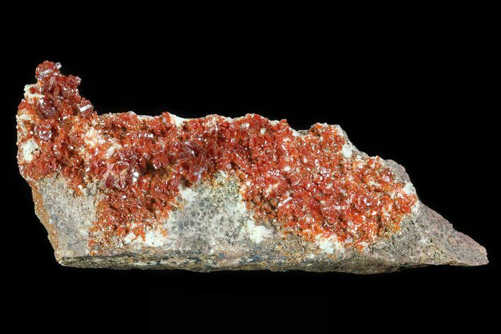 "4.8"" Ruby Red Vanadinite Crystal Plate - Morocco"